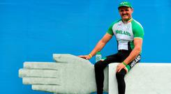 Declan Slevin is a farmer and a Paralympian. Photo: Sportsfile