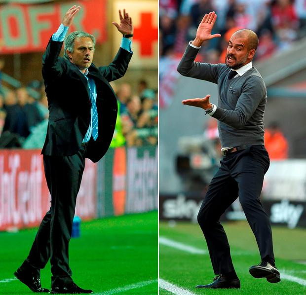 Jose Mourinho and Pep Guardiola.