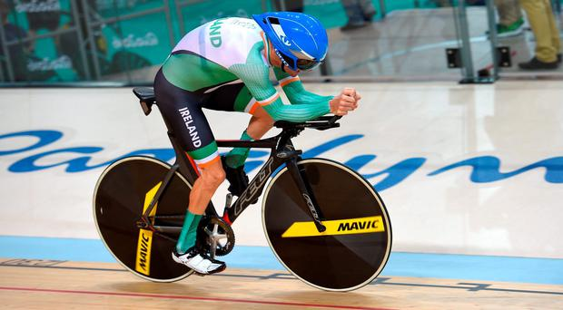 Eoghan Clifford of Ireland in action at the Rio Olympic Velodrome. Photo by Paul Mohan/Sportsfile