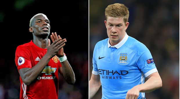 Paul Pogba and Kevin De Bruyne