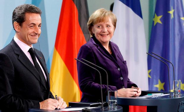 Taxing times: In 2011, Angela Merkel and Nicolas Sarkozy joined forces to bully Enda Kenny on Ireland's corporate tax rate Photo: REUTERS/Fabrizio Bensch