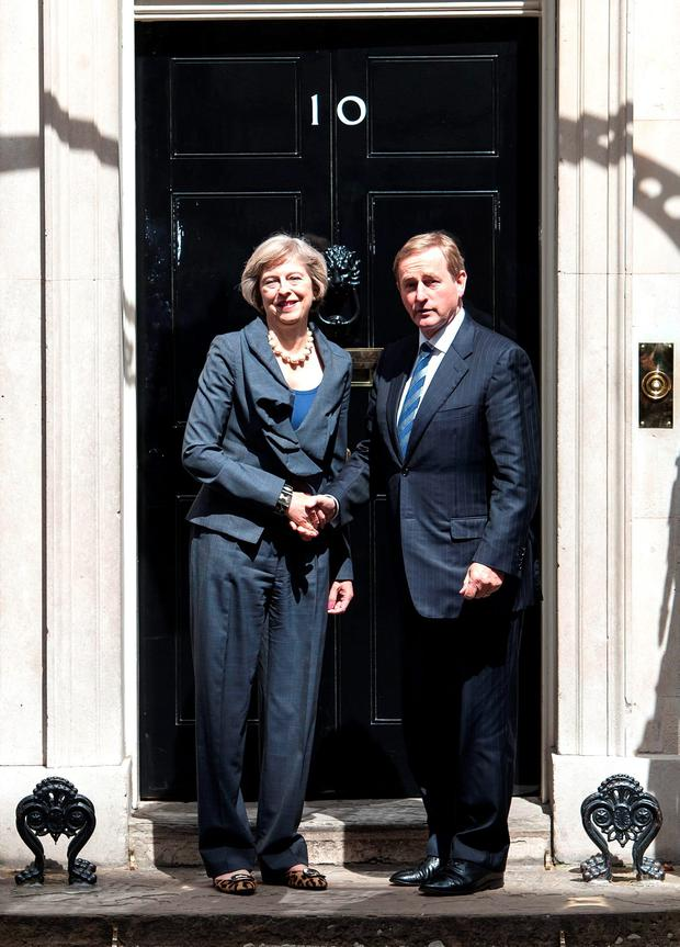 Choppy sea ahead: Theresa May and Enda Kenny outside No 10 Downing Street Photo: Lauren Hurley/PA Wire