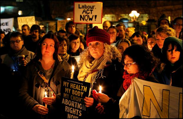 Difficult issue: Abortion rights will always be a controversial cause Photo: Steve Humphreys