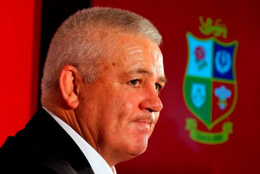 British and Irish Lions Coach Warren Gatland. Photo: Andrew Milligan/PA Wire