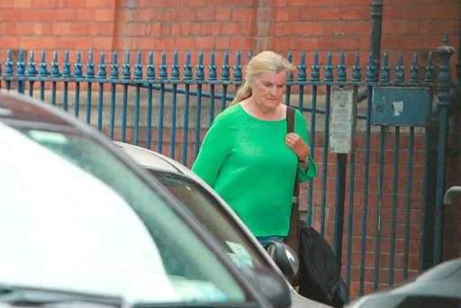 Catherine Nevin on temporary release from Mountjoy Prison to attend a course in Maynooth Photo: Courtesy of the Sunday World