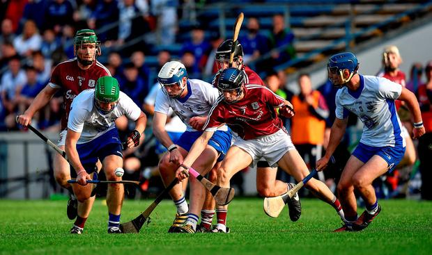 Action between Waterford and Galway. Photo: Brendan Moran/Sportsfile