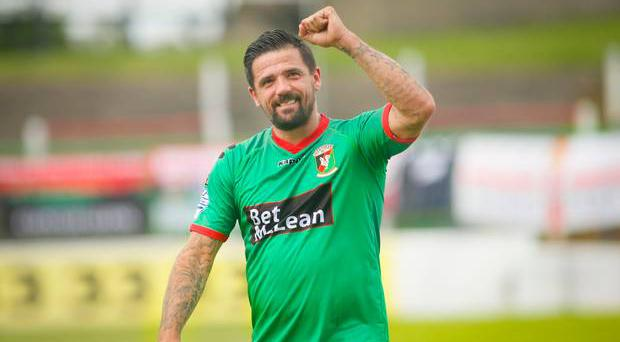 Glentoran's Nacho Novo in action