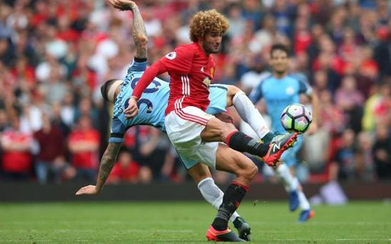 Marouane Fellaini's early-season promise waned against Manchester City CREDIT: GETTY IMAGES