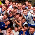 Waterford players celebrate in the dressing room after their victory over Galway in Saturday's Bord Gáis Energy All-Ireland U-21 hurling final at Semple Stadium. Photo by Ray McManus/Sportsfile