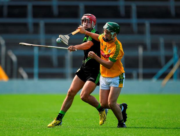 Ronan Ryan of Meath in action against Corey Scahill of Mayo. Photo by Ray McManus/Sportsfile