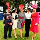 Longines finalists at Leopardstown: Leanne Durkan, Ciara Murphy, Louise Allen, Sharon Kennedy and Lisa McGowan