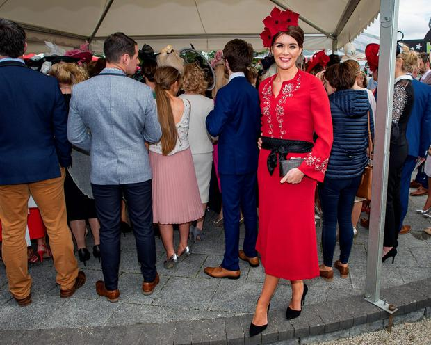 Helen Murphy from Cork at the Curragh races