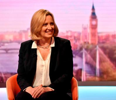 British Home Secretary Amber Rudd. Photo by Jeff Overs/BBC via Getty Images