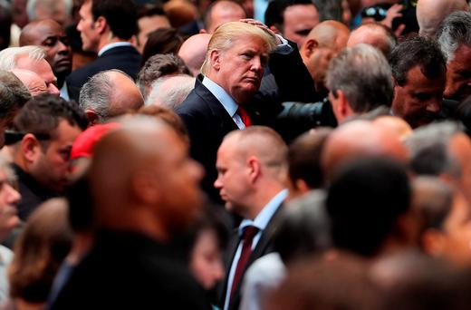 Donald Trump also attended the commemoration. Photo by Spencer Platt/Getty Images
