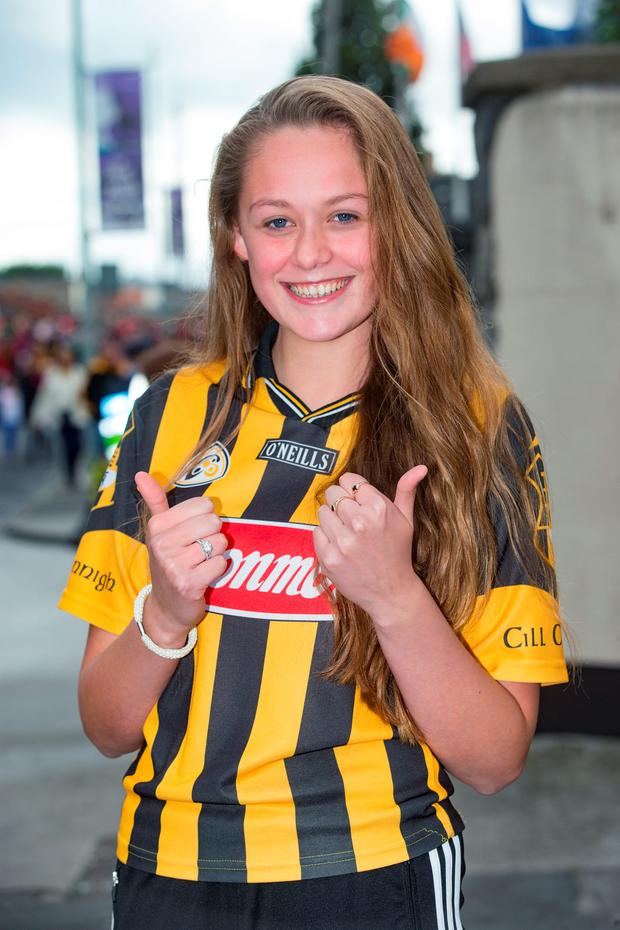 Kilkenny fan Leah Maher (14) at Croke Park. Picture: Arthur Carron