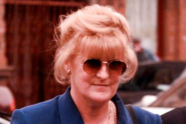 Catherine Nevin photographed during her trial in 2000
