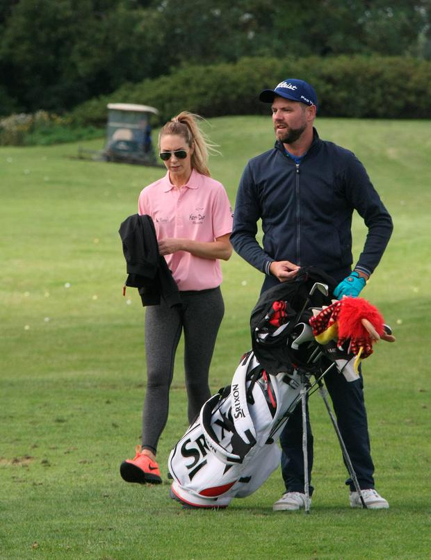 Brian McFadden & Danielle Parkinson at Roganstown Country & Golf Club, Co. Dublin for Keith Duffy's Foundation Golf Classic. Picture: Mark Doyle