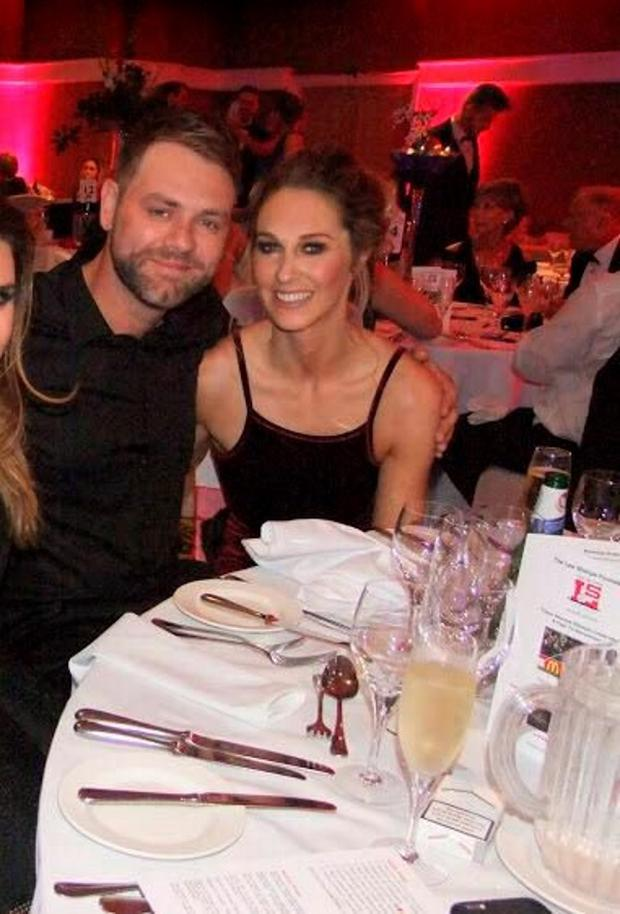 Brian McFadden and Danielle Parkinson. Picture: Twitter