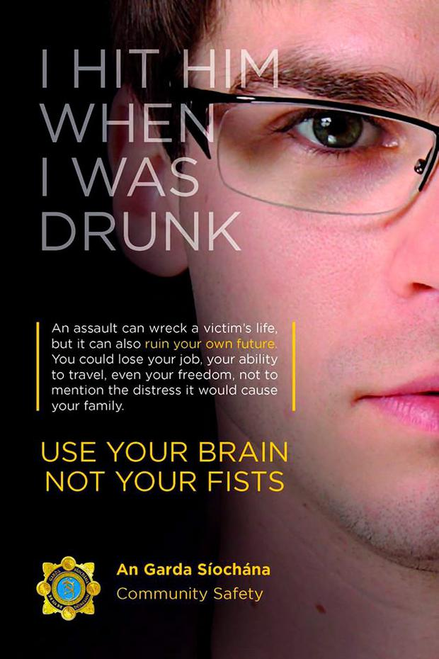 Use Your Brain Not Your Fists campaign. Picture: Garda Press Office