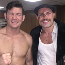 Cathal Pendred pictured on the set of My Name Is Lenny with Mike Bisping. Photo: Instagram