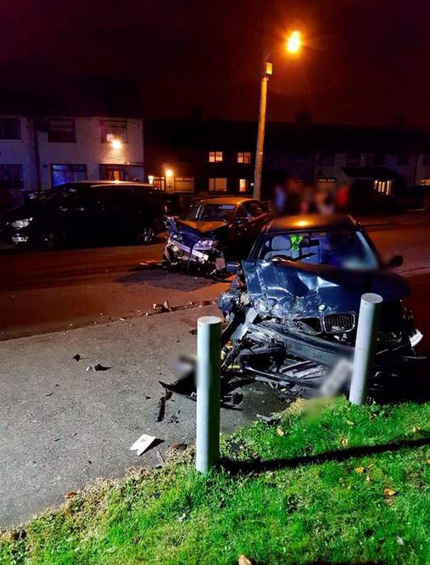 Dublin Fire Brigade posted these images of the two-car collision online (Photo: Twitter/DFB)