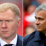 Paul Scholes and Jose Mourinho
