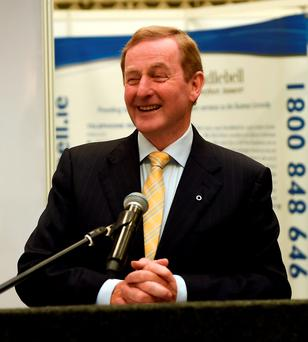 An Taoiseach Enda Kenny at the officially opening of The Franchise Show at the Main Hall, RDS, Dublin. Picture by Philip Fitzpatrick / Collins Photos