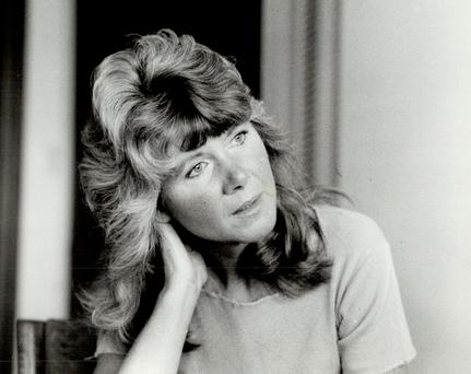Modern romance?: Writer of 'Riders' and 'Mount!' Jilly Cooper, pictured at the height of 'Riders' fame in the 1980s