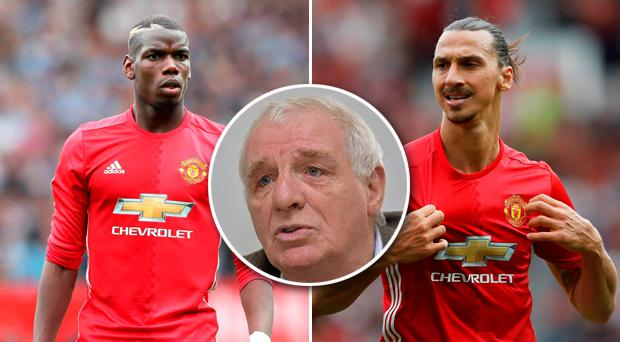 Eamon Dunphy has taken aim at Paul Pogba and Zlatan Ibrahimovic