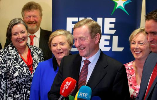 'To the dismay of some and the comfort of others in the Fine Gael family, Taoiseach Enda Kenny is signalling that he is settling in for a longer stay.' Picture credit; Damien Eagers