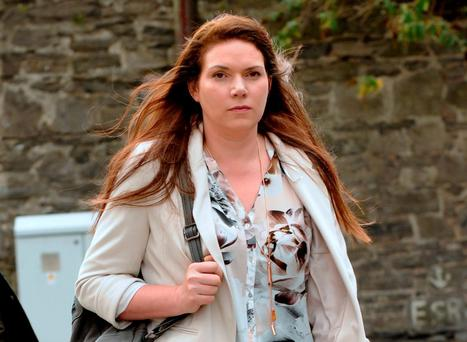 Laura Esmonde leaves the Medical Council in Dublin yesterday. Photo: Caroline Quinn
