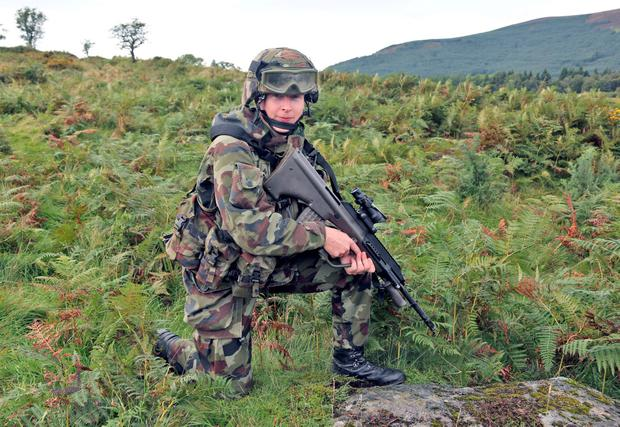 Lt Grainne Kenneally, from Tipperary, is No. 1 Platoon Commander. Picture Colin Keegan, Collins Dublin.