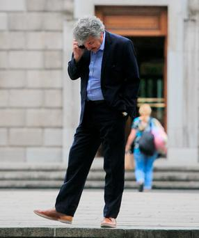 John Halligan TD outside Leinster House. Photo: Gareth Chaney Collins