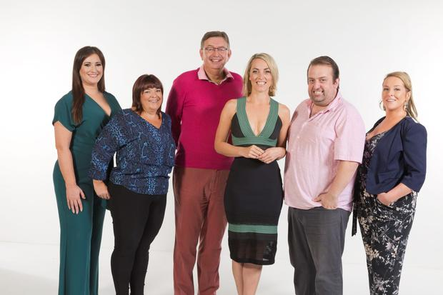 Kathryn Thomas, centre, with the contestants on Celebrity Operation Transformation