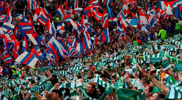 Celtic and Rangers fans