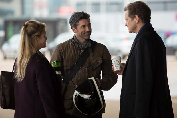 Renee Zellweger, left with Patrick Dempsey, centre and Colin Firth, right as in Bridget Jones's Baby