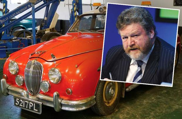 James Reilly (inset) is auctioning off a collection of vehicles