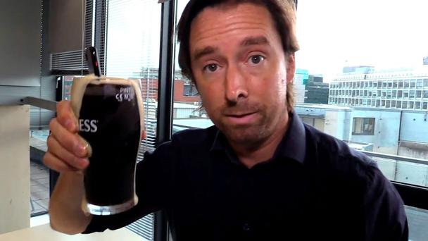 Adrian Weckler drops the iPhone 7 into a pint of stout for the test