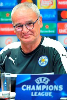 Claudio Ranieri insists Leicester must have realistic European expectations. Photo: Bruno Fahy