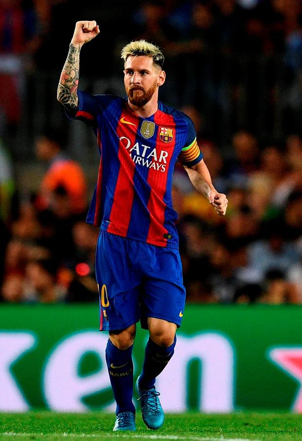Lionel Messi: 40th career hat-trick. Photo: David Ramos/Getty Images