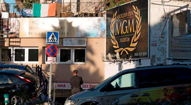 Spanish Civil Guard raid the MGM gym in Puerto Banus, during controlled synchronized raids of properties linked to the Kinahan Irish crime gang at 7.30am (Spanish time). Raids were also carried out in Dublin at the same time, by gardai accompanied by Spanish officers at several locations in Dublin