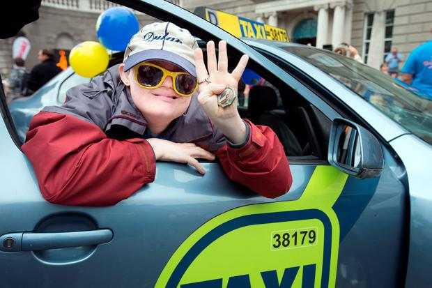 Dylan Wall from St Michael's House on Parnell Square during the Special Children's Taxi Day out. Photo: Tony Gavin 13//9/2016