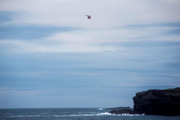 The Irish Coast Guard in Kilkee County Clare for the search for a missing local man. Pic:Mark Condren 14.9.2016