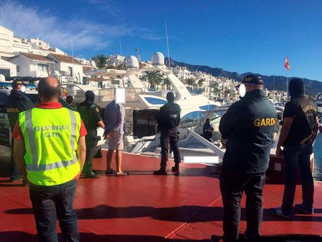 Gardaí assisting La Guardia Civil in Spain Picture: Garda Facebook