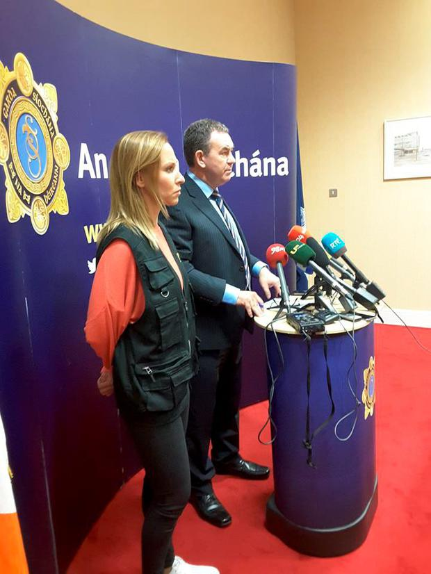 Detective Superintendent Tony Howard addresses press Conference held at Harcourt Square in relation to Orgainsed Crime