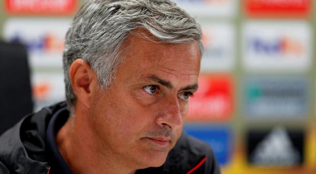 Manchester United manager Jose Mourinho during the press conference Action Images via Reuters / Matthew Childs