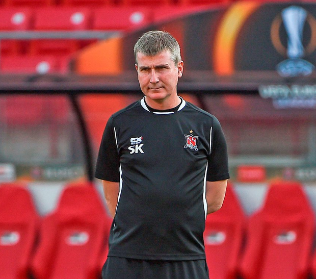 Dundalk manager Stephen Kenny during squad training at the AZ Stadion in Alkmaar, Netherlands. Photo by David Maher/Sportsfile