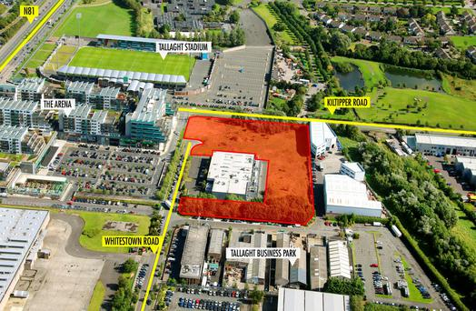 The development site on the Whitestown Road, Tallaght, Dublin