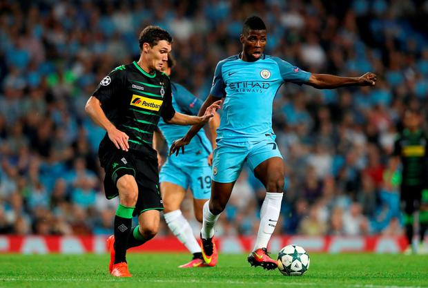 Manchester City's Kelechi Iheanacho in action. Photo: Martin Rickett/PA Wire