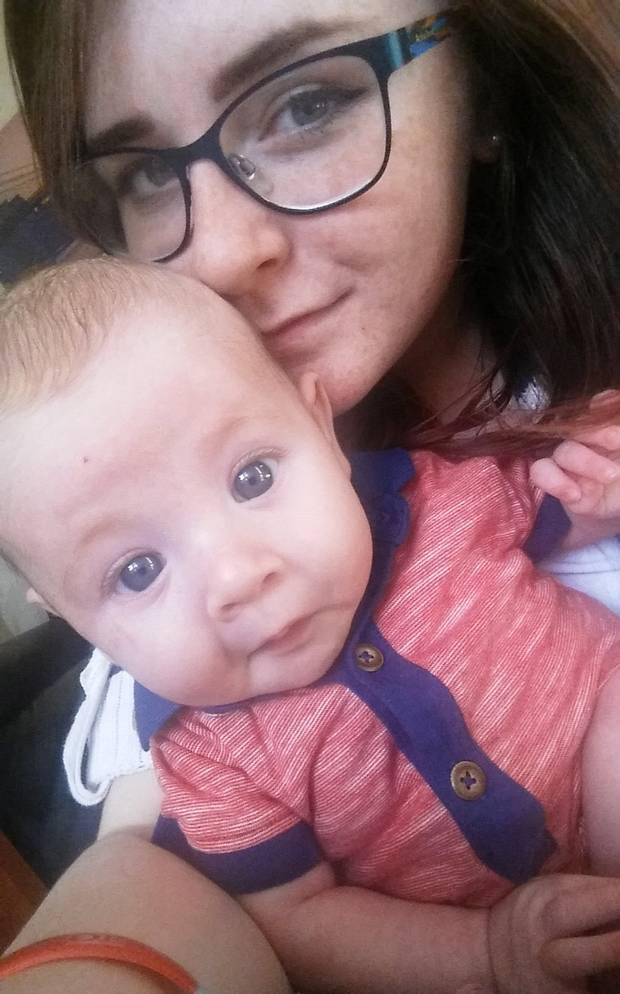 Alex with her baby son